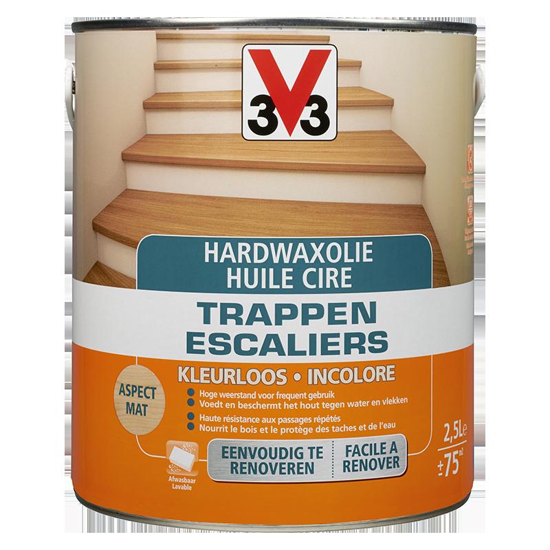 Hardwaxolie trappen kleurloos / Huile cire escaliers incolore 2,5L