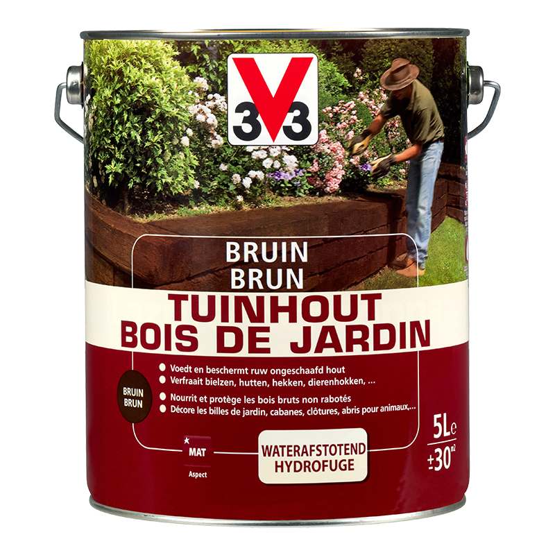 Générique Brun bois de jardin 5L