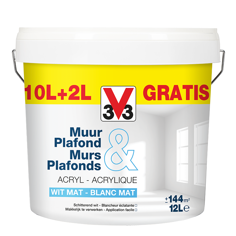 Peinture Blanche Murs Plafonds Pack Promo 5 1l 10 2l
